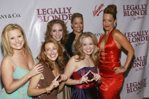 Gaelen Gilliland with the cast of Legally Blonde on opening night
