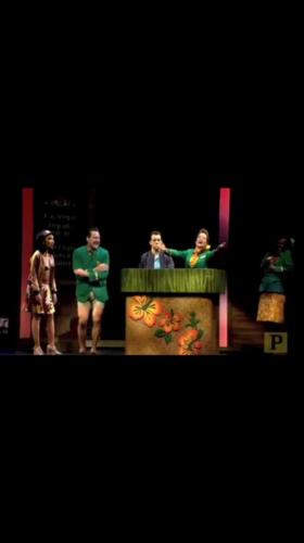 Gaelen in the Broadway cast of Honeymoon in Vegas