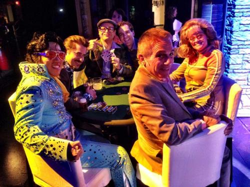 Gaelen with the cast of Honeymoon in Vegas at the Paper Mill Playhouse