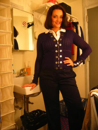 Gaelen Gilliland in costume as Vivienne for Legally Blonde