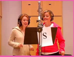 Gaelen Gilliland recording the cast recording for Legally Blonde